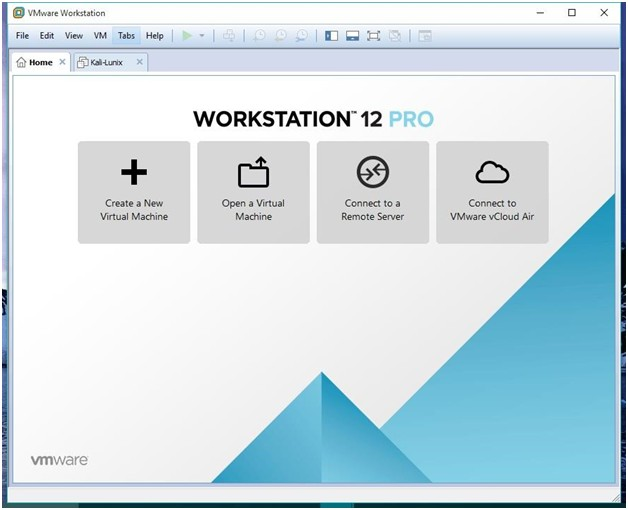vmware workstation 12 screenshot